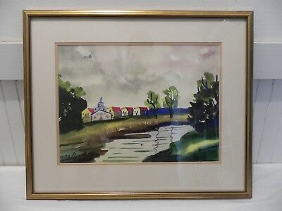 Guy De Bouthillier Watercolor Painting