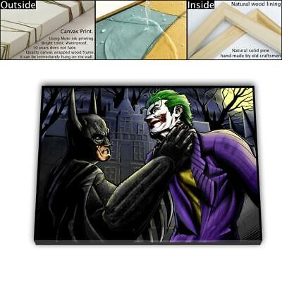 "16""x24"" Batman Joker Painting HD Canvas print Framed Home decor Wall art Picture"