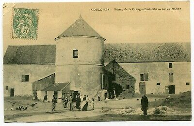 CPA - Carte Postale - France - Coulombs - Ferme de la Grange Coulombs - 1907