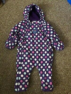 Girls Jojo Maman Bebe Snowsuit / All In One - Age 6/9 Months