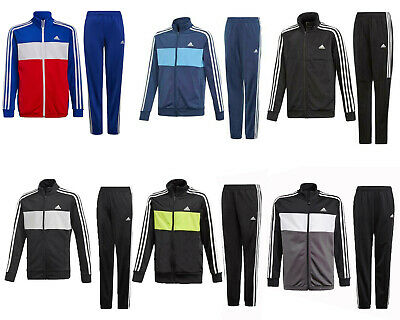 Adidas Boys Tracksuit Tiberio Kids Tracksuits Bottoms Full Zip Jogging Suit