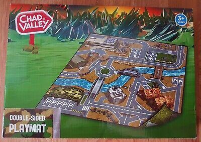 New Chad Valley Double Sided Playmat with 2 Army Vehicles