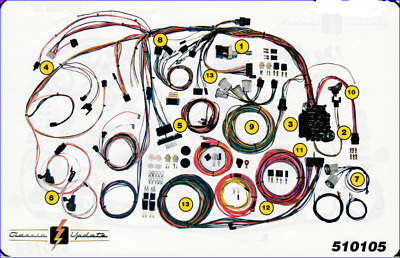1970 - 1972 Chevy Chevelle   Classic Wiring Harness AAW  New USA Quality