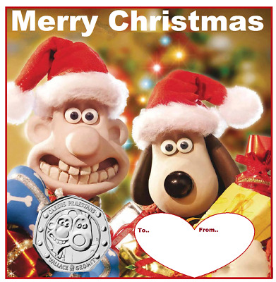 2019 50p COIN WALLACE AND GROMIT 30TH ANNIVERSARY  DISPLAY CARD AND B/U 50P COIN
