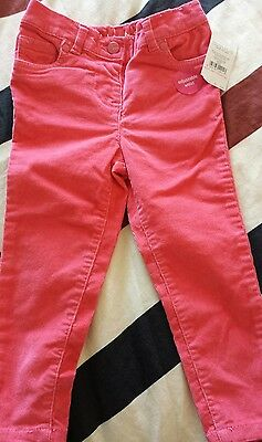 New with tags NUTMEG Girls Peachy Orange Trousers 1 1/2 - 2 years 86 - 92cm