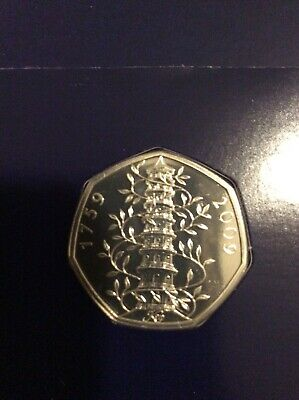 GENUINE STUNNING KEW GARDENS 50p COIN BRILLIANT UNCIRCULATED CONDITION.