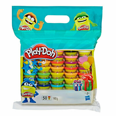 PLAY-DOH Set of 50 x 28g Tubs by Hasbro Total Fun for All Occasions,Brand New