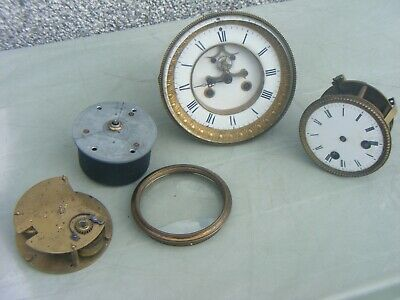 Antique  French & Mixed Clocks Movements  Job Lot