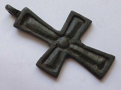 Ancient Byzantine Reliquary Cross Pendant   8,18 gr/ 45 m   1418