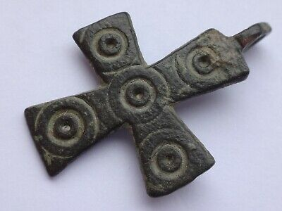 Ancient Byzantine Reliquary Cross Pendant   4,63 gr/ 37 m   1488