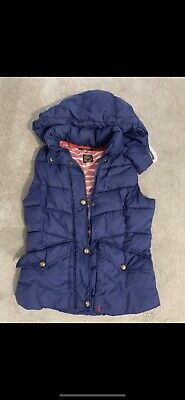 Joules Women's Gilet Size 8 Womens Ladies Hooded Body Warmer Lined Padded Hoodie