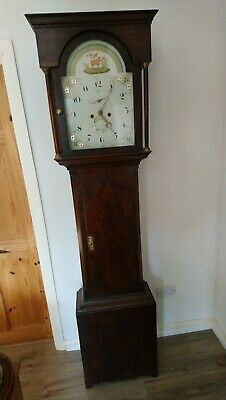 W. Swinburne, Hexham, Northumberland , Striking 8 Day Oak Case Longcase Clock