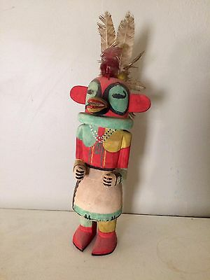 "1950s Era Hand Carved Hand Painted Kachina Doll 20"" Tall Native American"