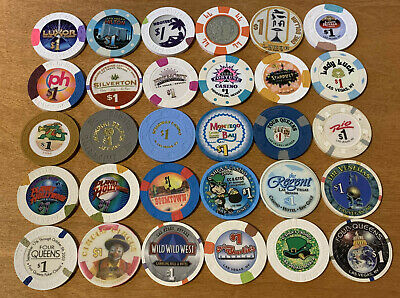 Lot of 30 Diff $1 Las Vegas Casino Chips #3 - Many Vintage Chips - Blowout Deal
