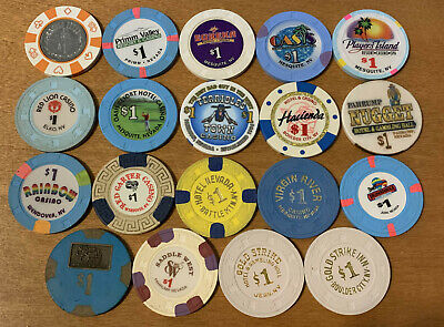 Lot of 19 Diff $1 Non Vegas Nevada Casino Chips #2 - Older Chips - Blowout Deal