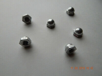 Aluminum Acorn - Cap Nuts  3/8-16  6 Pcs.new