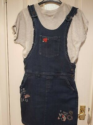 Aged 14/15 Two Part Set M&S Denim Dress & T Shirt New With Tags