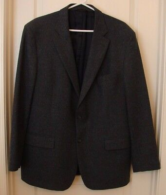 Brooks Brothers Gray Blazer 100% Wool Regent Fit 2 Button 2 Vent  Lined 45R