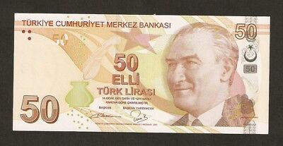 2009 Turkey 50 Lira  P225 Uncirculated ( Fancy Serial Number )