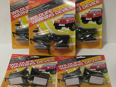 5 PACKS (10 total) OF DEER WHISTLES / WILDLIFE WARNING DEVICES- FREE SHIP- NEW