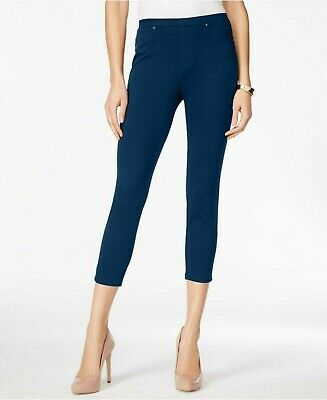 Style & Co Womens Pull-On Capris Leggings - Navy Blue Denim Wash - Size Small