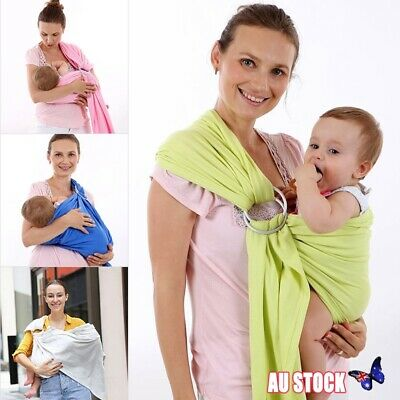 Infant Baby Wrap Carrier and Ring Sling - Newborn Wrap Breastfeeding Pouch Belt