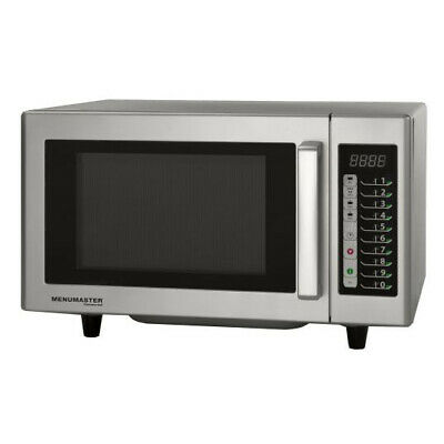 MenuMaster Light Duty Commercial Microwave 1000W 23L Oven Stainless Interior 10A
