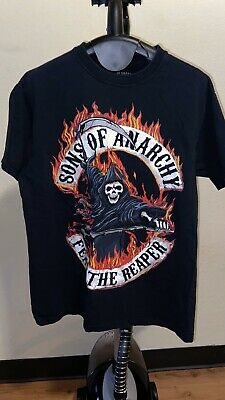 Sons Of Anarchy Black T-Shirt Mens Size Medium SOA Fear The Reaper