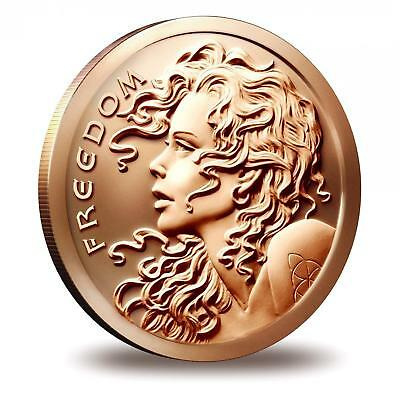 💥RARE DOUBLE HEAD SBSS FREE-REIGN FREEDOM GIRL COIN 1oz .999 COPPER MEDALLION🌟