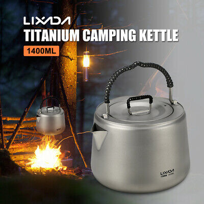 Portable Aluminum Camping Water Kettle Outdoor Coffee Pot Teapot for Hiking O7U6