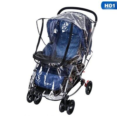 Baby Universal Baby Stroller Rain Cover With Zip Front Opening Buggy