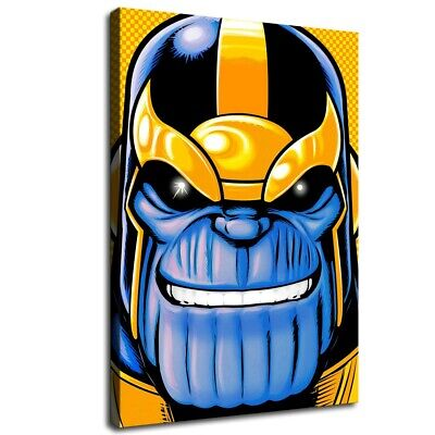 """16""""x24""""Avengers Thanos Poster HD Canvas Print Painting Home decor Room Wall art"""