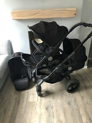 iCandy Peach 3  Black Jet Twin /Blossom  With Twin Cot Black