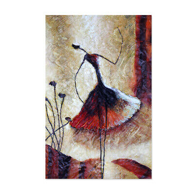 Abstract Hand Painted Art Canvas Oil Painting Modern Home Decor Framed Dancer AU