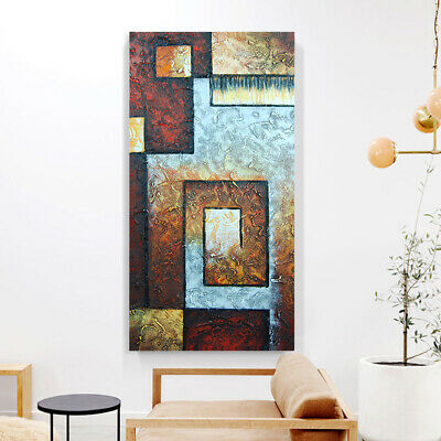 Hand Painted Modern Abstract Oil Painting Canvas Wall Art Home Decor Framed AU
