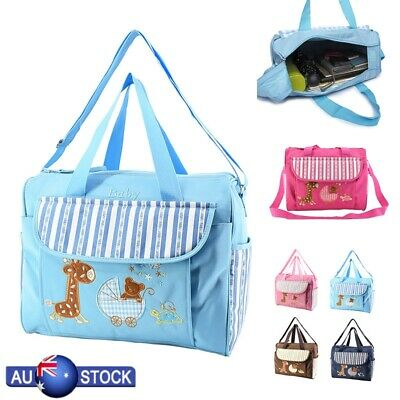Baby Diaper Nappy Mummy Changing Handbag Shoulder Bag With Mat Travel Adjustable