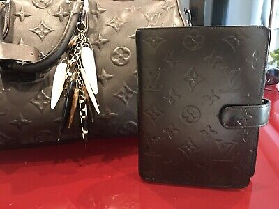 LOUIS VUITTON agenda MM monogram vernis grey