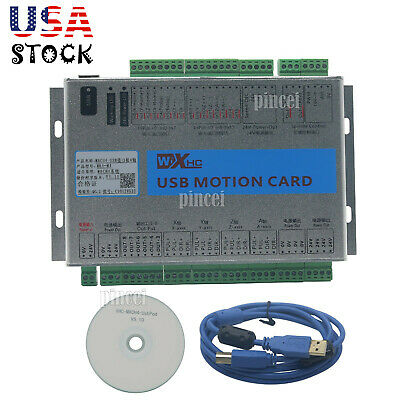 Mach4 CNC USB 4 Axis Motion Control Card Breakout Board for Machine Centre