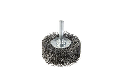 CRIMPED WIRE SPINDLE MOUNT BRUSH 0.3mm Wire 50mm x 20W 6mm Spindle