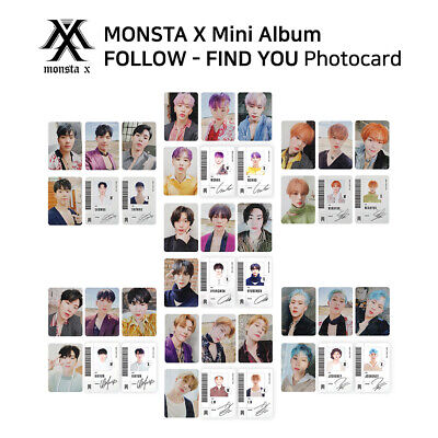 MONSTA X - 7th mini album - FOLLOW - FIND YOU Official Photocard - SET