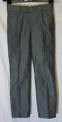 Boys Hugo Boss Grey Pinstripe Slim Fit Smart Formal Suit Trousers Age 8 Years