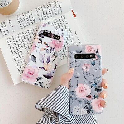 Shockproof Flower Slim Phone Case Cover For Samsung Galaxy S10 Plus A70 A50 S9
