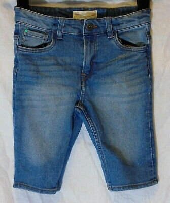 Boys Matalan Blue Whiskered Denim Adjustable Waist Long Board Shorts Age 8 Years