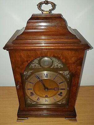 A Rare Burr Walnut Elliott 8-day, 3 train, Westminster & Whittington chime clock