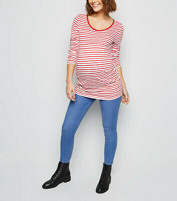 NEW LOOK Maternity Bright Blue Over Bump Jeggings, Pregnancy Jeans Sizes 8-18