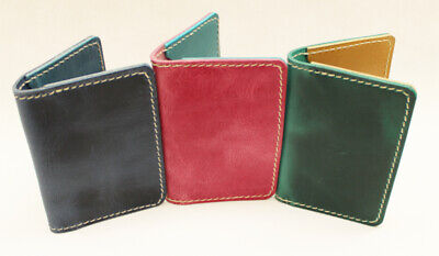 Handmade Leather Credit Card Holders. Available in 3 colours