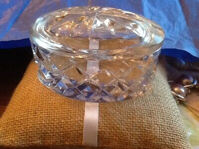 Lovely ROGASKA Signed Crystal Oval Trinket Box