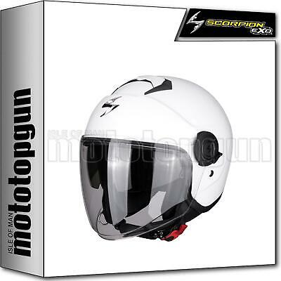 Scorpion Open Face Motorbike Helmet Exo-City Solid White M