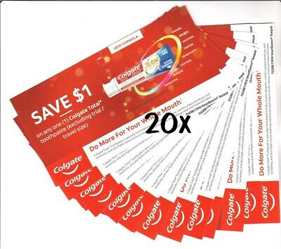 20x Colgate Total Toothpaste Coupons (Canada)