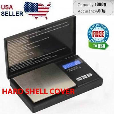 Digital Scale 1000g x 0.1g Jewelry Pocket Gram Gold Silver Coin Precise NEW